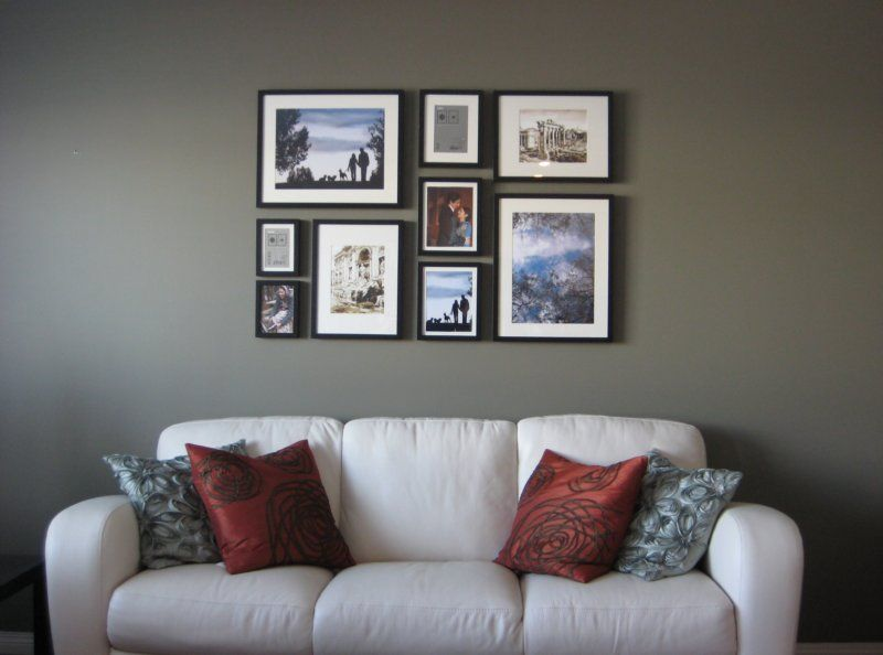 Как разместить картинки на стене, ребенка бабушке поздравительные